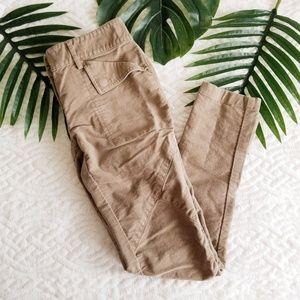 BCBG MAXAZRIA 2 Light Brown Skinny Leg Moto Pants